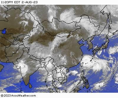 East Asia Satellite Image