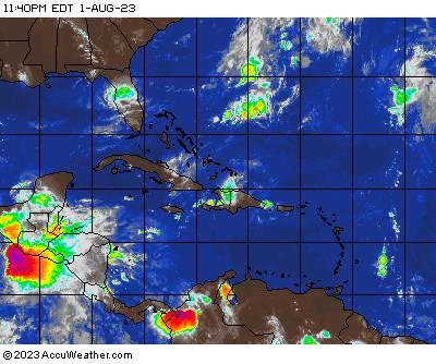 Caribbean satellite image
