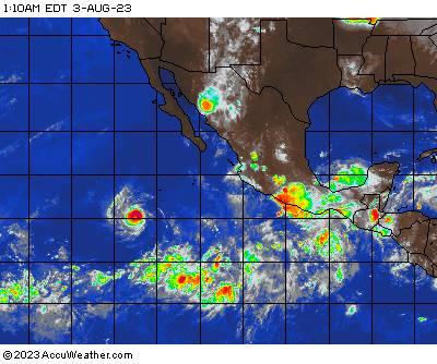 Southeast Pacific satellite image