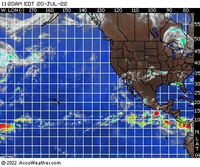 East Pacific Ocean satellite image