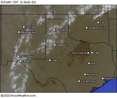 Satellite/radar composite image of south central U.S.
